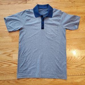 lululemon athletica Shirts - Lululemon Metal Vent Tech Polo contrast collar S